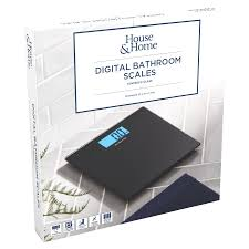 House & Home Glass Digital <b>Bathroom Scales</b> - <b>Black</b> | BIG W