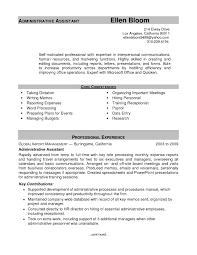sample resume administrative assistant experience resumes sample resume administrative assistant regard to keyword