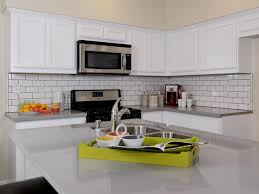 countertops white cabinets subwy tile