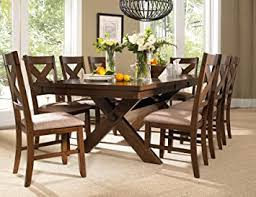 Roundhill Furniture Karven 9-Piece Solid Wood ... - Amazon.com