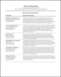 sample job search references sheetreferences sheet sample