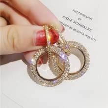 Best value Women Round Crystal Earring Gold – Great deals on ...