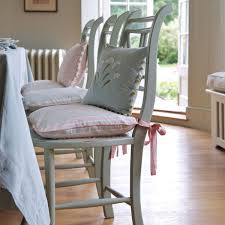 Shabby Chic Colors For Kitchen : Kitchen chair cushions with ties also decorative shabby chic throw