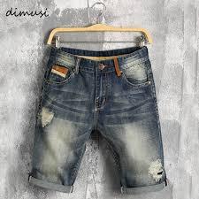 DIMUSI Men <b>summer denim shorts male</b> jeans men jean shorts ...
