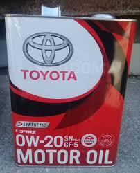 <b>Toyota Motor Oil</b> SN Plus 0W-20 GF-5 4л. 08880-12605 ...