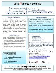 avia employment servicesdouglas college workplace skills program foundations flyer