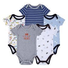 <b>Baby Bodysuits Newborn</b> Ropa Bebe <b>5pcs</b>/ <b>lot</b> 100% Cotton ...