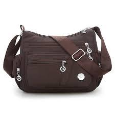 Fresh <b>Shoulder Bag Cute</b> Waterproof Nylon <b>Floral Messenger Bag</b> ...