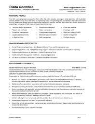 aircraft engineer resumefree resume templates