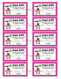 printable girl birthday raffle ticket raffle ticket ideas printable girl birthday raffle ticket printable pink girl monkey diaper raffle tickets bee busy