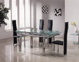 extendable dining table set: dining table extendable glass dining tables ideas glass top