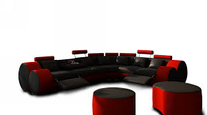 3087 modern black and red leather sectional sofa and coffee table black and red furniture