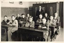 bij meester Harnie ('Stannie') ± 1959 met o.m. Jean Wellemans (?), Emile Auwerijckx, Gaby Roggeman, Willy De Munck, ... - emile