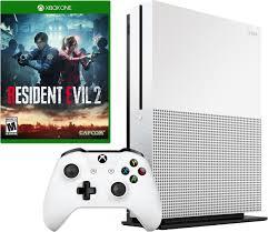 Игровая <b>приставка Microsoft</b> Xbox One S, белый + <b>игра</b> Resident ...