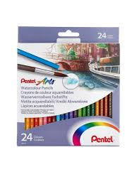 <b>Цветные карандаши</b> акварельные <b>Colour pencils</b>, 24 шт. <b>PENTEL</b> ...