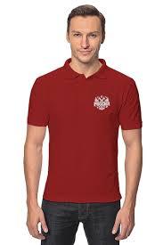 """Рубашка Поло """"Россия"""" #2135922 от gopotol - <b>Printio</b>"""