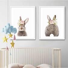 <b>Woodland Animals</b> Nursery Wall Art <b>Canvas</b> Posters Print ...