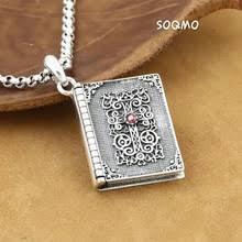 SOQMO тайский <b>серебряный крест</b>, кулон из Библии, 925 пробы ...