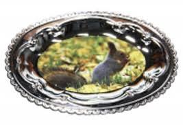 <b>Тарелка овальная металлическая</b> купить: цена на ForOffice.ru