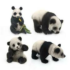 Forest Panda <b>Simulation Solid Wild</b> Animal Model Toy <b>Child Kids</b> ...