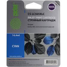 <b>Картридж</b> Cactus CS-<b>LC565XLC</b> Голубой (Cyan) — купить, цена и ...