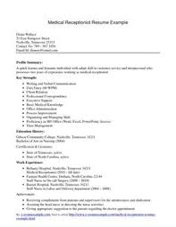 medical receptionist  sample resume medical receptionist  resume    resume examples medical receptionist format free medical receptionist resume medical receptionist resume example by e resume