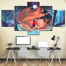 Wall Art Anime Naruto <b>Picture</b> Decor Framework <b>5 Piece</b> On Canvas ...