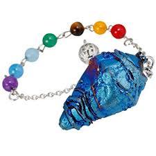 <b>TUMBEELLUWA</b> Healing <b>Crystal</b> Quartz 7 Chakra Pendulum ...