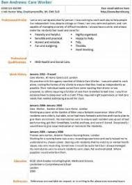 care worker cv example   learnist org