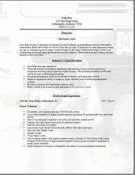 mechanic resume sample cipanewsletter professional resumes automotive technician and mechanic resume example