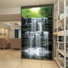 online get cheap custom wall murals com alibaba group custom wall mural papel de parede 3d waterfall landscape living room entrance photo background wall papers