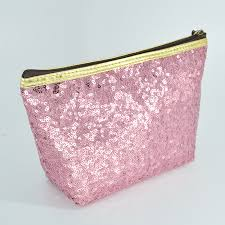 lady's cosmetic bag toiletry organizer sequins refreshing bling bling ...