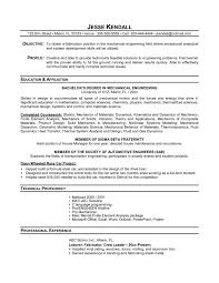 technical resume template engineering resume examples for students