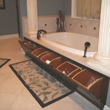 bathroom space savers bathtub storage: master bath garden tub hidden storage such a convenient place to the shampoo bottles