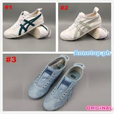 <b>2019 Original Asics</b> Onitsuka Mexico 66 Canvas Blue Slip On ...