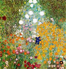 Gustav Klimt <b>Flower Garden</b> Painting   <b>Картины</b>, Краска ...