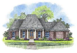 Karsyn   Country French Home Plans Acadian House PlansAcadian Country French House plan elevation