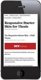 The Responsive Skin   Child Theme Starter Set for Thesis  new download