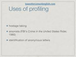 serial killers law enforcement english uses of profiling