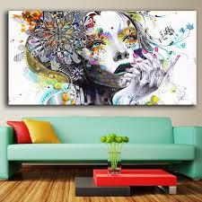 SKILL_ROAD <b>Direct selling</b> huge wall <b>art</b> girl with flowers oil ...