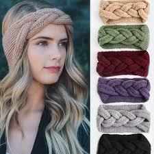 <b>M MISM 2019</b> Big Bow Fish Bones Winter Girl Knit Headbands ...