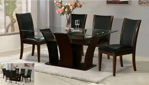 Black Leather Dining Room Chairs Furniture Hot Furniture For Black Dining Room Decoration Using