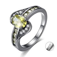 Personalized Customized <b>Clear</b> Green <b>Red</b> Cubic Zirconia Ring ...
