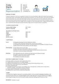 Sales representative CV sample Dayjob