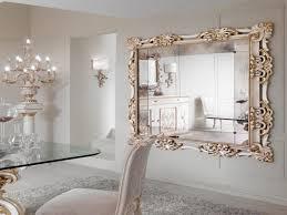 rustic teal framed long mirror