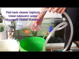 How to clean Aquarium Fish tank with a vacuum <b>hand pump</b> / <b>siphon</b> ...
