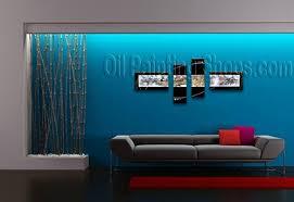 high q large 4 panels wall art for office decor modern art abstract 75 blue office decor