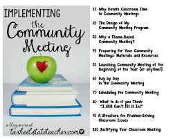 reflections and resources from tarheelstate teacher everything everything you want to know about the community meeting