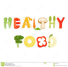 healthy food lettering stock vector image 68908048 healthy food lettering