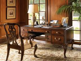 l shaped brown stained oak wood office black color furniture office counter design